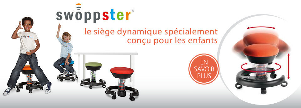 swopper shop chaise si ge de bureau ergonomique et dynamique swopper. Black Bedroom Furniture Sets. Home Design Ideas